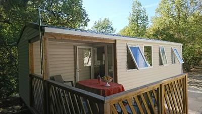 Mobil-home loggia 3 chambres-sdb-wc