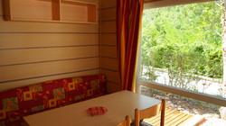 Mobil-home Loggia 2 chambres avec clim réversible-sdb-wc