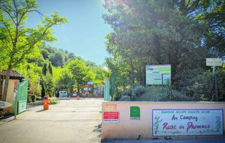 Entrée du camping Camping Rose de Provence-Verdon