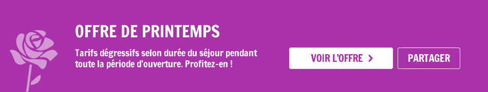 Offre de Printemp Camping Rose de Provence-Verdon