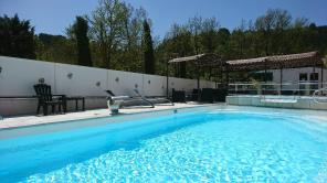 Swimming pool at Camping Rose de Provence***